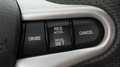 Cruise control 2: 1 beveled button, 1 rocker switch, 1 flat button