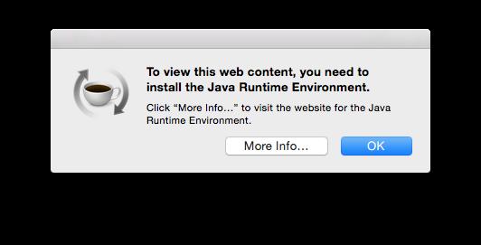 Java Runtime Environment Error After Os X Yosemite Upgrade Fredericiana