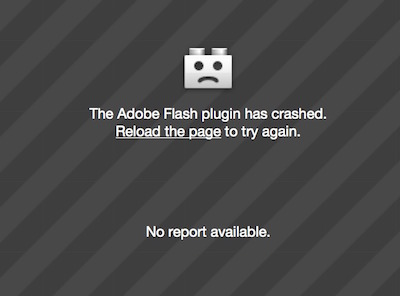 Firefox: Flash plugin crashed