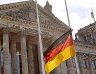 German flag, half-staff