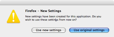 Firefox New Settings Window