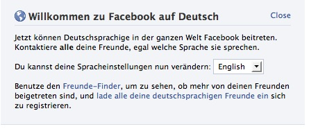 Facebook in German