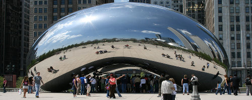 Cloud Gate to Millenium Park, by Miles_78 on flickr