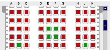 Lufthansa Seat Selection