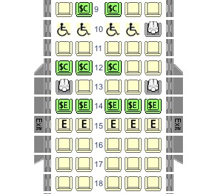NWA Seat Selection