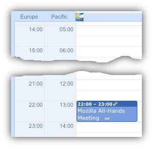 Google Calendar: Time Zones